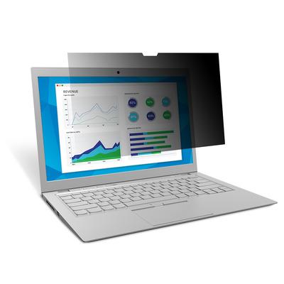 """3m schermfilter: PF156W9E privacy-filter voor rand-tot-rand 15.6"""" breedbeeld laptop - Zwart, Doorschijnend"""