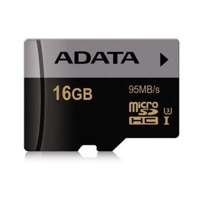 Adata flashgeheugen: 16GB, SDA 3.0, 95MB/s read , 2.7~3.6V - Zwart, Grijs