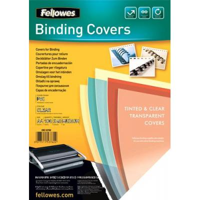 Fellowes binding cover: 53762 - Transparent plastic cover, 240µm, 100pcs - Transparant