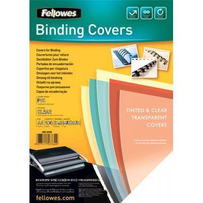 Fellowes 53762 - Transparent plastic cover, 240µm, 100pcs Binding cover - Transparant