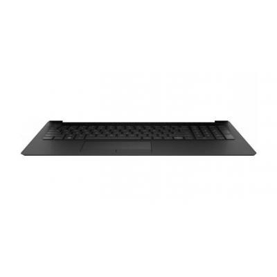 Hp Top Cover/Keyboard, no backlight, jet black notebook reserve-onderdeel - Zwart
