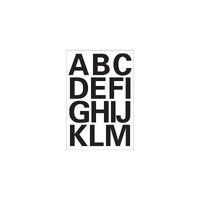 Herma etiket: Letters 25mm A-Z weatherproof film black 2 sheets