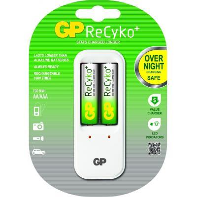 Gp batteries oplader: ReCyko+ PB410GS - Wit