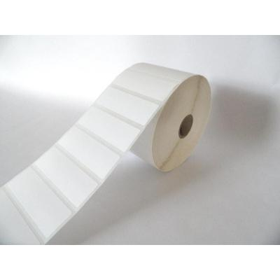 Nakagawa Thermo-labels Top-coated 76x25.4mm, White, Removable Etiket - Wit