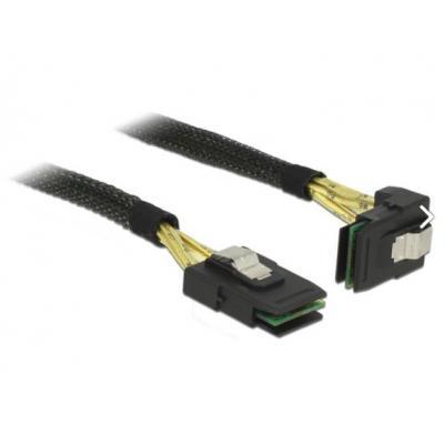 Delock kabel: Mini SAS to Mini SAS, 1 m - Zwart