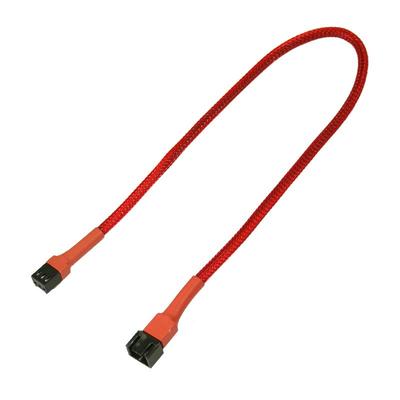 Nanoxia 3-pin Molex Extension, 30 cm - Rood