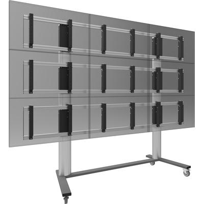 SmartMetals 2x2, 46'', VESA, aluminium, grijs TV standaard
