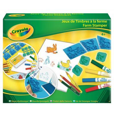 Crayola : knutselpakket - Boerderij stempelset - Multi kleuren