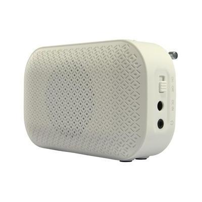 Salora radio: Digitale DAB+ en FM radio met rubberised coating - Wit
