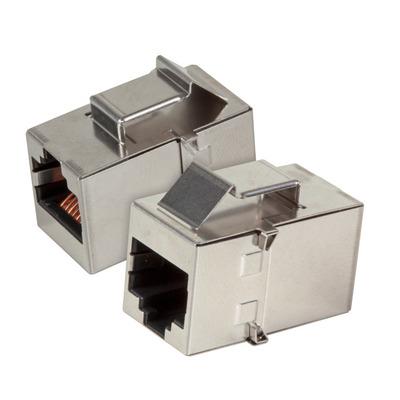 EFB Elektronik Keystone Snap-In Adapter RJ45 STP, Cat.5e, Stainless Steel Kabel adapter - Roestvrijstaal