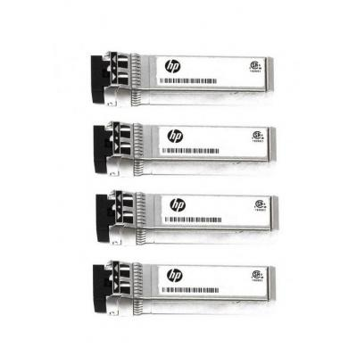 HP SFP+ transceiver module - GigE, iSCSI - 1000Base-T - RJ-45 (pack of 4) Netwerk tranceiver module - Zilver