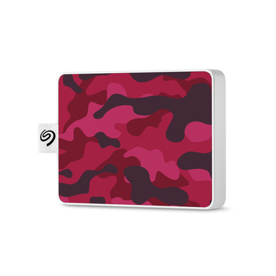 Seagate STJE500405 Externe harde schijf - Camouflage, Rood