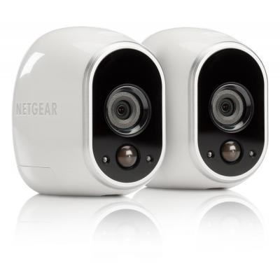 Netgear beveiligingscamera: Arlo Home Security - Draadloze WiFi-beveiligingscamera kit - Wit