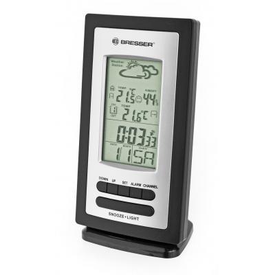 Bresser optics weerstation: Hygroneter/Thermometer, AAA, -20 - 60 °C, 81x61x164mm, 200g, Black/Silver - Zwart, Zilver