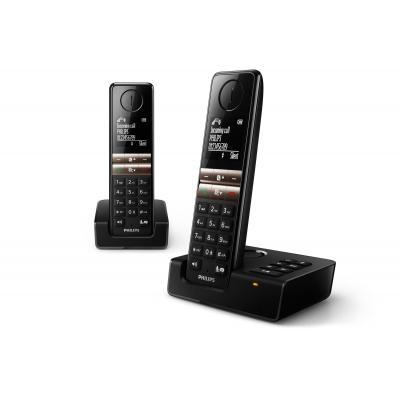 Philips dect telefoon: Draadloze telefoon met antwoordapparaat D4652B/01 - Zwart