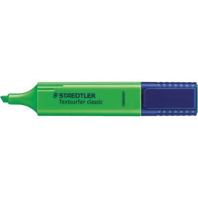 Staedtler Textsurfer classic, Groen, 10 Pack Markeerstift - Blauw, Groen