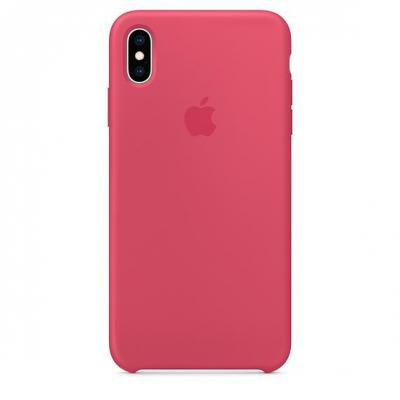 Apple iPhone XS Max Silicone Case - Hibiscus mobile phone case - Roze