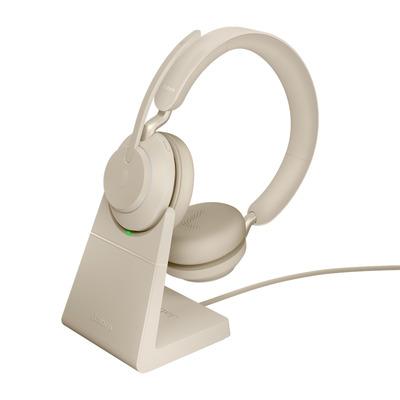 Jabra Evolve2 65, UC Stereo, USB-C Headset - Beige