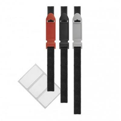 Label-the-cable kabelbinder: Label the cable LTC Flex Klettbinder+beschriftb. Label 3er-Set schwarz/grau/rot - Zwart, .....