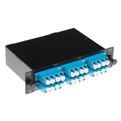 ACT Fanout cassette 24 vezels MTP-MPO Low Loss OS2 Patch panel - Zwart,Blauw,Wit