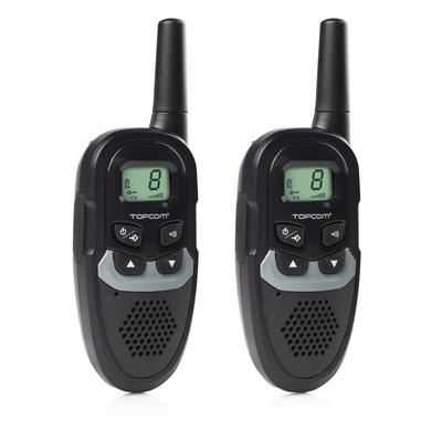 Topcom Walkie talkie Range up to 6 km, 446 MHz, 8 ch Walkie-talkie - Zwart