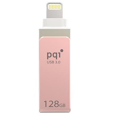 PQI iConnect mini USB flash drive - Roze goud