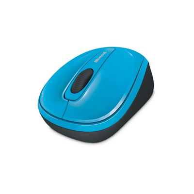 Microsoft computermuis: Wireless Mobile Mouse 3500 - Cyaan