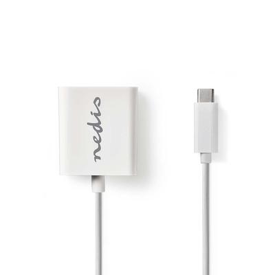 Nedis USB-C™-Adapterkabel, Type-C™ Male - VGA Female, 0.2 m, Wit