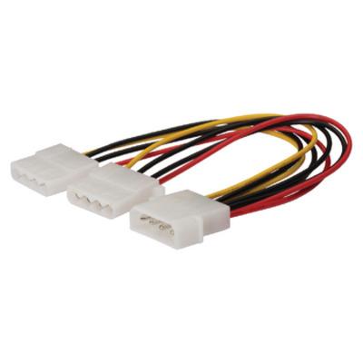 König : 2x Molex 4-pin/Molex 4-pin F/M 0.15m - Multi kleuren