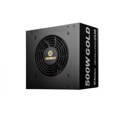 Enermax power supply unit: Revolution DUO 500W - Zwart