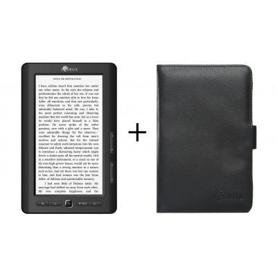 """Icarus e-book reader: Bundel van de Omnia M703BK 7"""" e-reader en de zwarte beschermhoes C027BK"""
