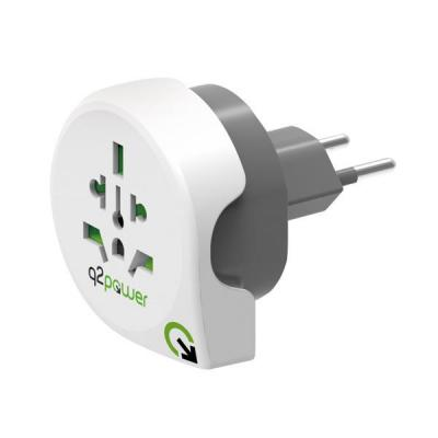 Q2-power 1.100200 stekker-adapter - Wit