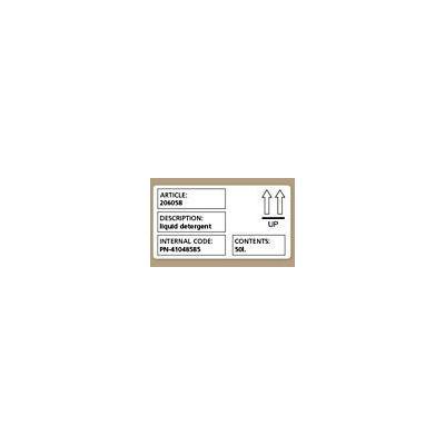 Dymo etiket: Shipping / name badge labels - Zwart, Wit