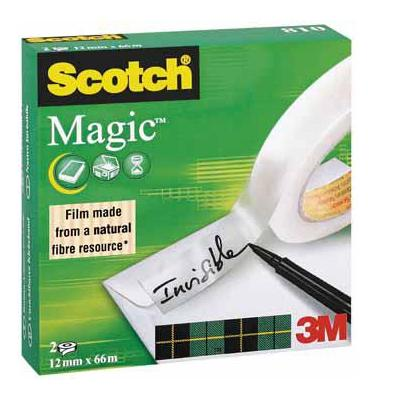 Scotch plakband: PLAKBAND MAGIC 12X66M DS 2X