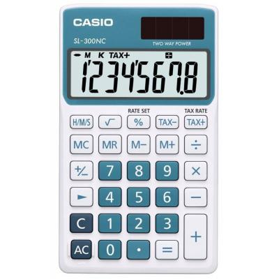 Casio calculator: SL-300NC - Blauw, Wit