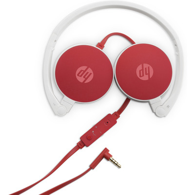 HP 2800 Headset - Rood, Wit
