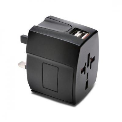 Kensington stekker-adapter: International Travel Adapter - Zwart