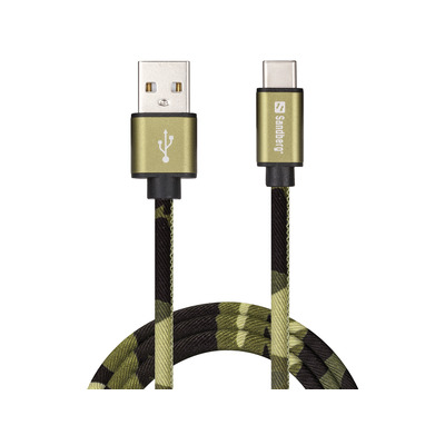 Sandberg USB-C Green Camouflage 1m USB kabel