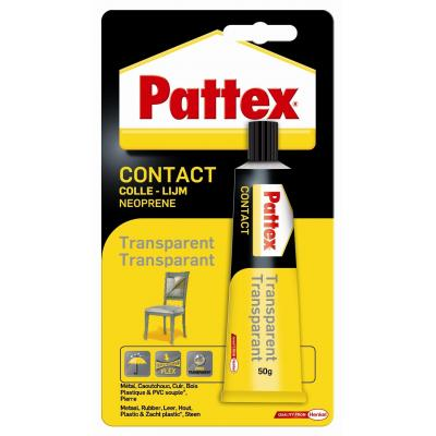 Pattex lijm: Contactlijm Transparant - Zwart, Geel