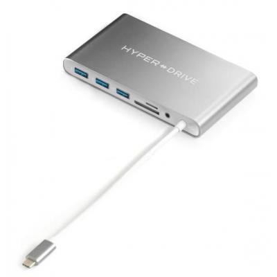 HYPER hub: HyperDrive Ultimate USB-C HUB Space Gray - Grijs