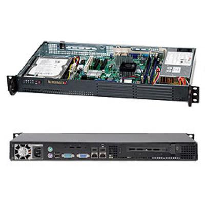 Supermicro CSE-502L-200B Server barebone - Zwart