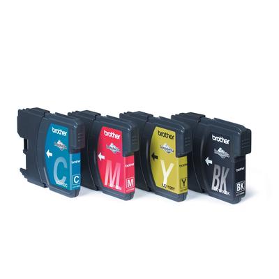 Brother LC-1100VALBP - 1x zwart, geel, cyaan, magenta Inktcartridge - Zwart,Cyaan,Magenta,Geel