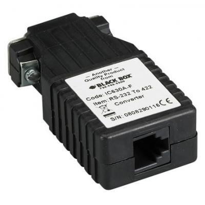 Black Box DB9 M - RJ11 AV extender - Zwart