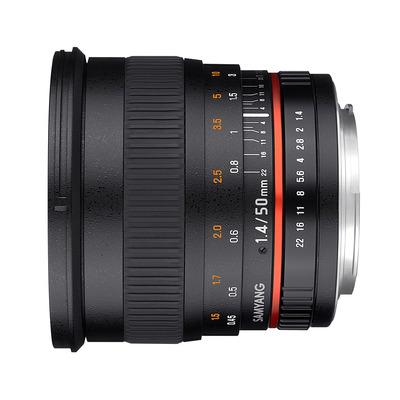 Samyang camera lens: 50mm F1.4 AS UMC - Zwart