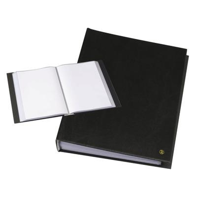 Rillstab A4, 120 pcs, generfd kunststof - Zwart