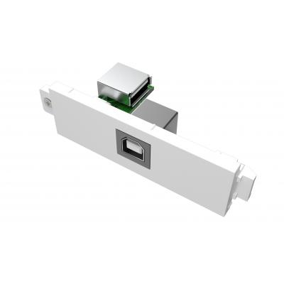 Vision wandcontactdoos: USB-B module - Wit