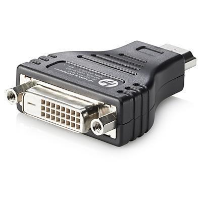 HP HDMI to DVI Adapter Kabel adapter - Zwart