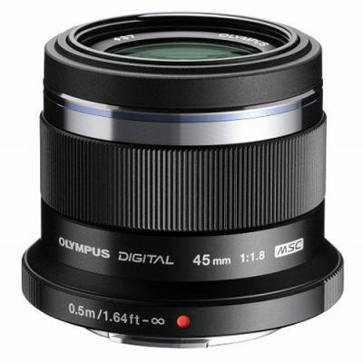 Olympus camera lens: M.ZUIKO DIGITAL 45mm 1:1.8 - Zwart
