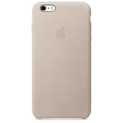 Apple mobile phone case: Leren hoesje voor iPhone 6s Plus - Rozegrijs - Grijs, Roze