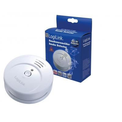 Logilink rookmelder: Smoke Detector with VdS approval, 9V Zinc-Carbon battery, 85db